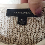 Ann Taylor Woven Zip Up Sweater Jacket