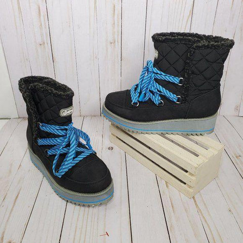 Sugar Black Platform Snow Boots