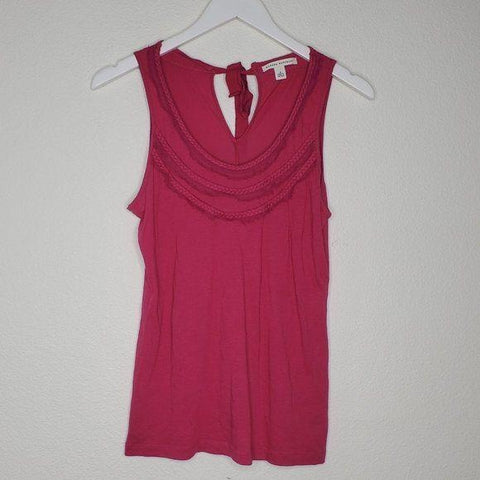 Banana Republic Magenta Pink Ribbon Tie Tank Top