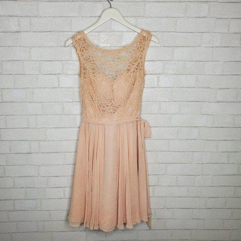 Kennedy Blue Pretty Peach Lace Chiffon Dress