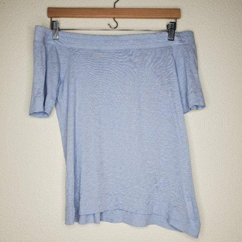 Splendid Light Blue Off Shoulder Tee Shirt