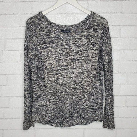 American Eagle Outfitters Heather Gray Crew Neck Sweater