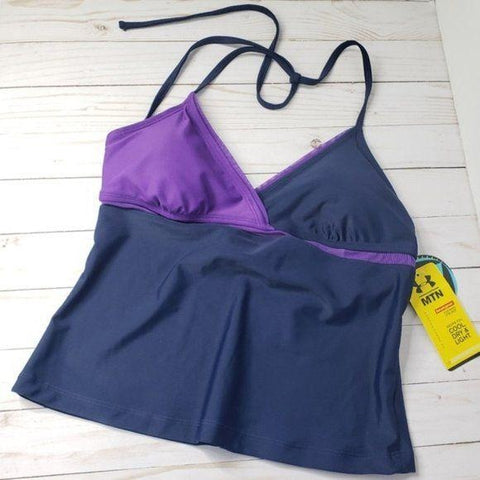 Under Armour Navy Purple Tankini Top