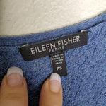 Eileen Fisher Blue Wool Open Cardigan