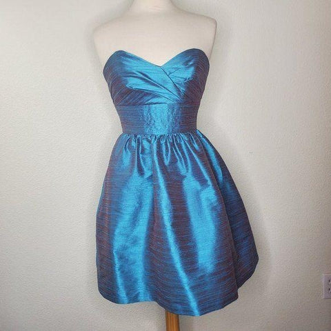 Alfred Sung Turquoise Strapless Formal Dress