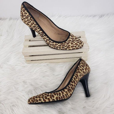 BP Stella Leopard Print Leather Heel 7.5