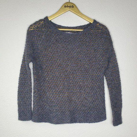 7 For All Mankind Gray Gold Sweater