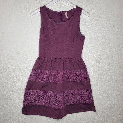 Xhilaration Purple Lace Accent Dress