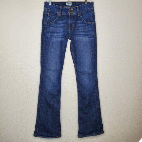 Hudson Classic Signature Mid Rise Boot Cut Jeans