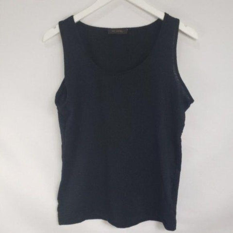 The Limited Black Silver Thread Tank Top