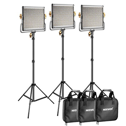 3 Pack Dimmable LED Video Light
