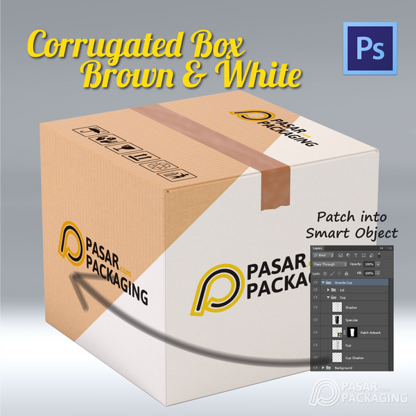 Corrugated Box Brown & White