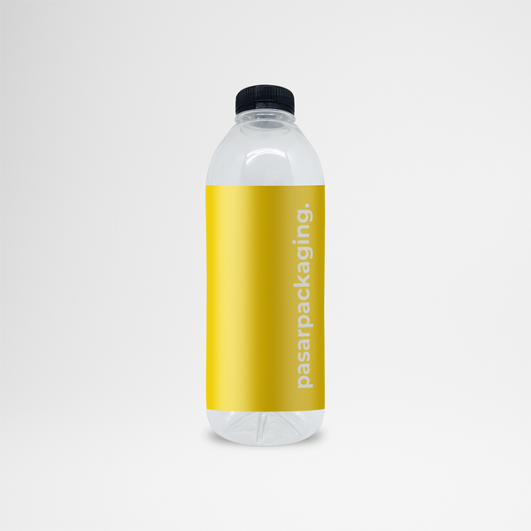 1000ml PET Bottle + Sticker - Pasar Packaging