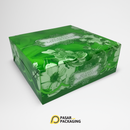 18x18 Green Snack Box - Pasar Packaging