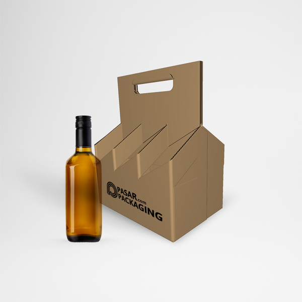 6 Bottles Tray Carrier - Sablon - Pasar Packaging