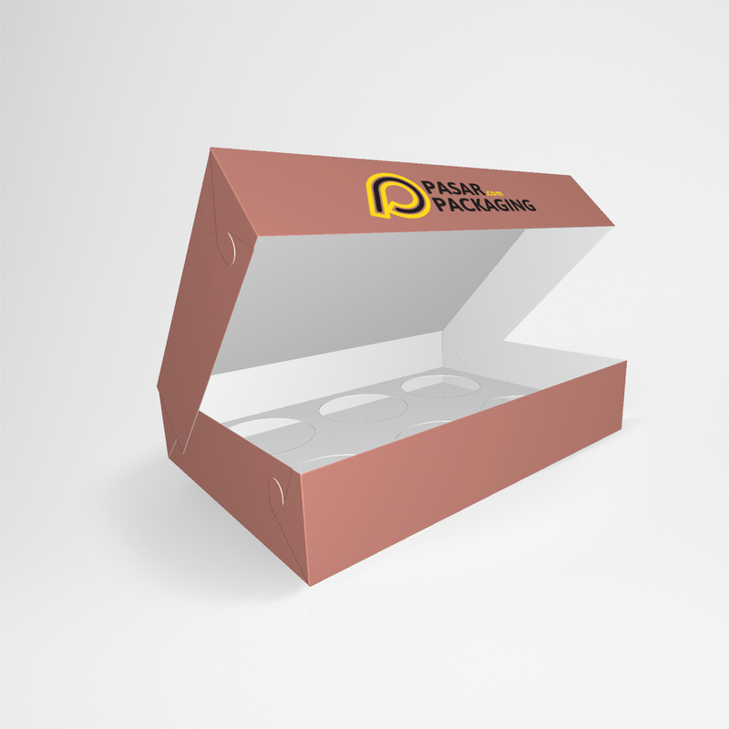 6 pcs Pie Box with Tray - Printed - Pasar Packaging
