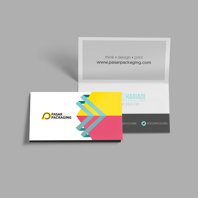 Business Card Fold - Pasar Packaging