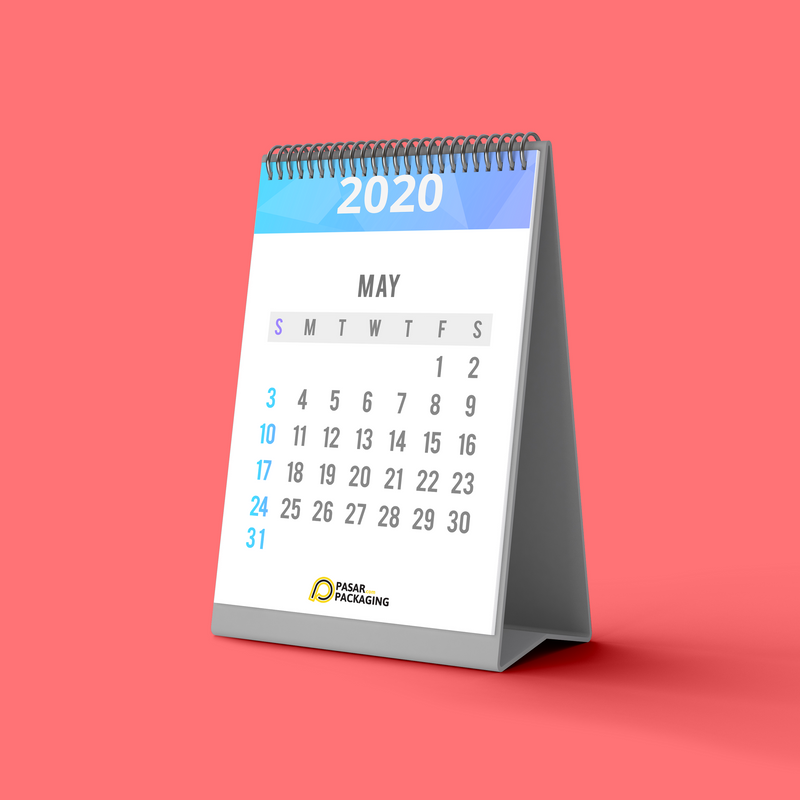 Portrait Desk Calendar