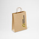 Shopping Bag Kraft Paper Twist Rope Large - Printed