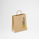 Shopping Bag Kraft Paper Twist Rope Medium - Printed