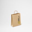 Shopping Bag Kraft Paper Twist Rope Small - Printed - Pasar Packaging