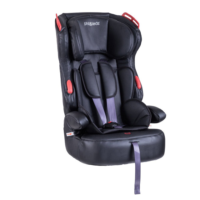 phil&teds discovery car seat 3/4 view_black