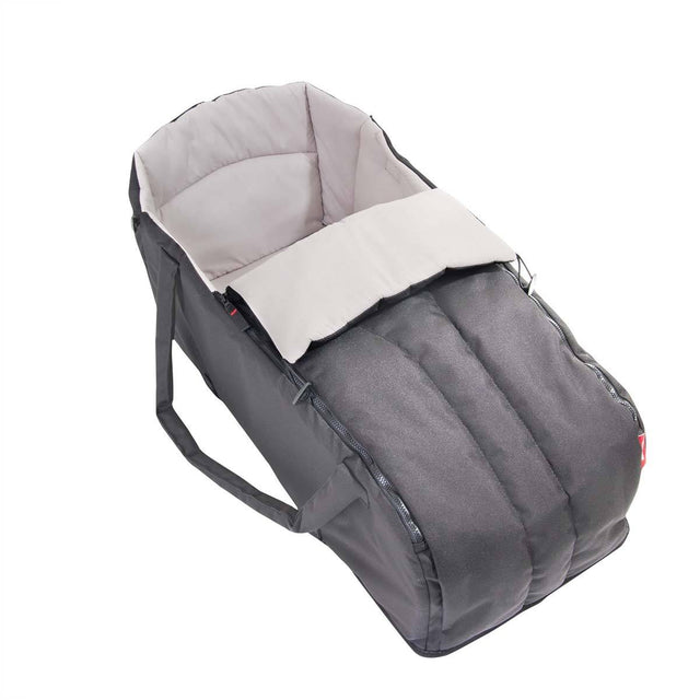 phil&teds cocoon carrycot in flint 3/4 view_flint