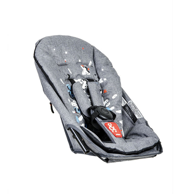 phil&teds sport v5inline stroller double kit in graffiti 3qtr view_graffiti