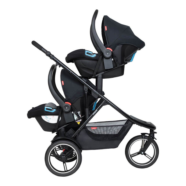 phil&teds dash inline buggy with double alpha travel systems