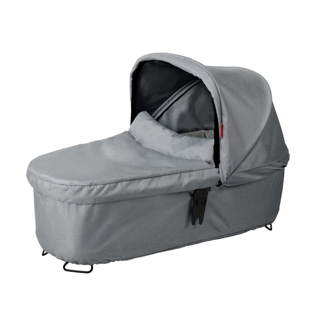 phil&teds dash snug carrycot 3qtr view_grey marl