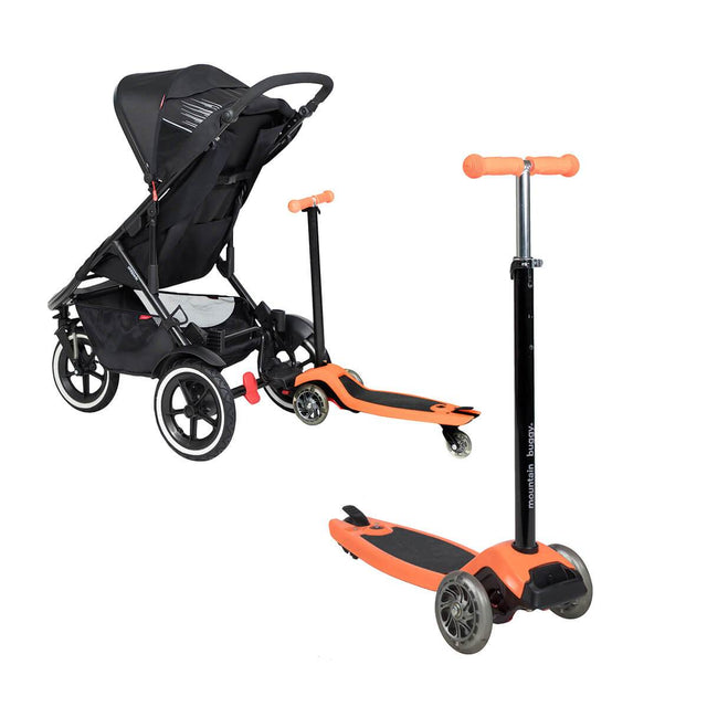 phil&teds inline range works perfectly with freerider in orange_orange