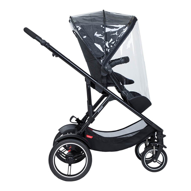 phil&teds voyager main seat and double kit sun mesh cover on voyage buggy side view_default