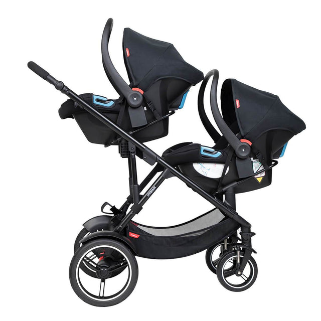 phil&teds voyager inline buggy with double alpha travel system inline