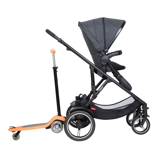 phil&teds voyager inline buggy with freerider in rear