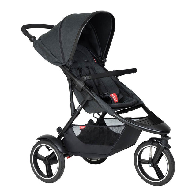phil&teds dash inline buggy in black colour