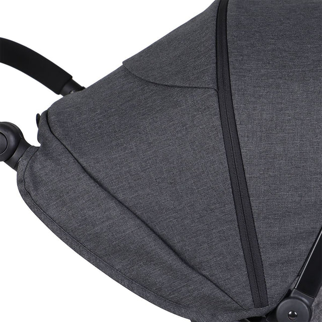 phil&teds dash buggy close up of sunhood_charcoal