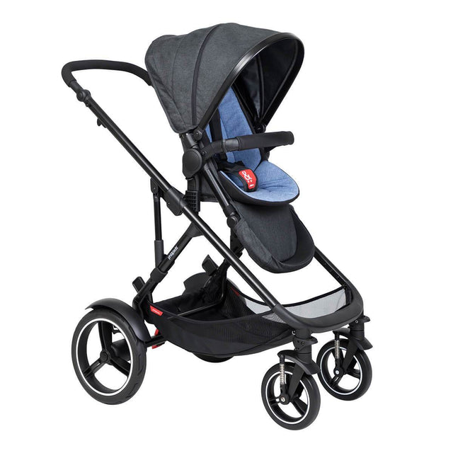 phil&teds voyager inline buggy in sky blue colour