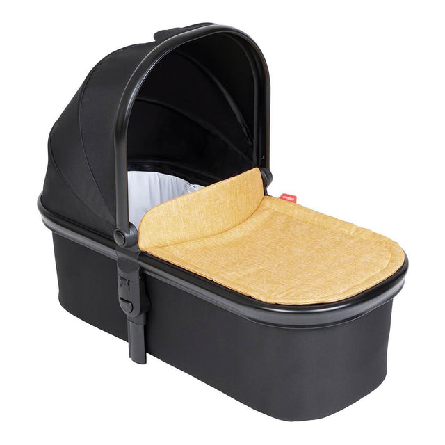 phil&teds snug carrycot in butterscotch brown colour