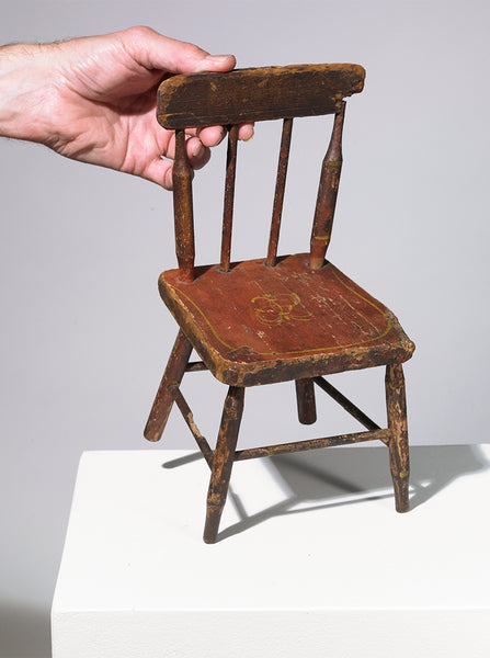 "Wood Doll Chair (1880s), from Eric Oglander's ""Tihngs"""