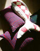 Bode Red and Blue Country Cloth Pillow