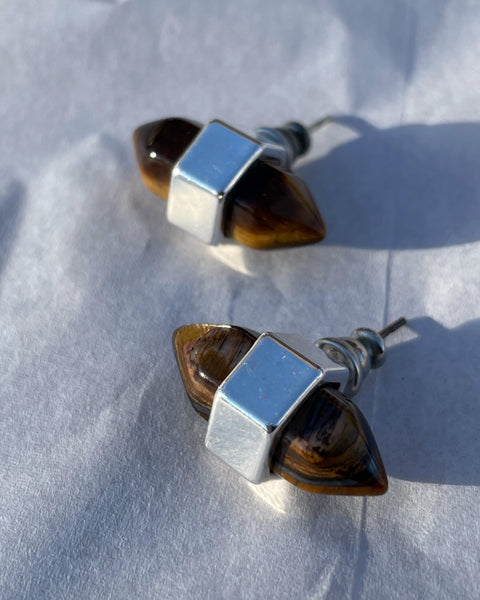 Double Tiger's Eye Studs