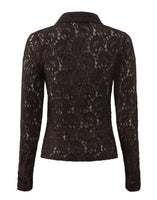 Lace Gaea Shirt Chocolate