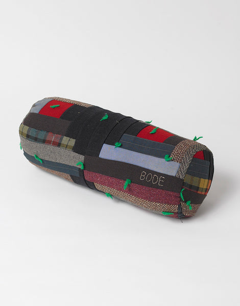 Bode Small Log Cabin Quilt Bolster 2