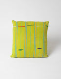 Bode Green and Yellow Country Cloth Pillow 1