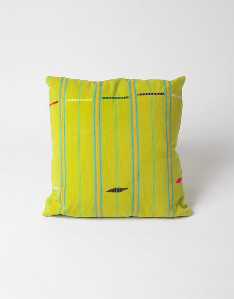 Bode Green and Yellow Country Cloth Pillow 2