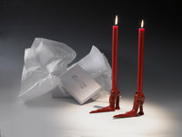 Red Hot Legs Candlesticks by Laura Welker
