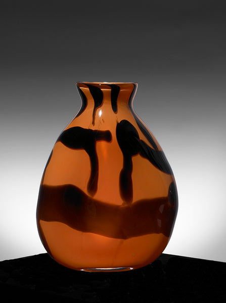 Graffiti Vase, Paul Arnhold Glass