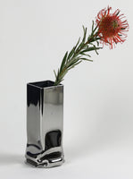 Tim Teven Chrome Pressure Vase, Low