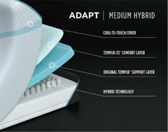 "Tempur-Adapt 11"" Medium Hybrid Mattress"