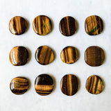 "Tiger Eye Cabochon - Oval ""Soap"" Shaped Wire Wrapping Stone Brown Crystal Polished Tigereye Supply Mineral Specimen Rocks"